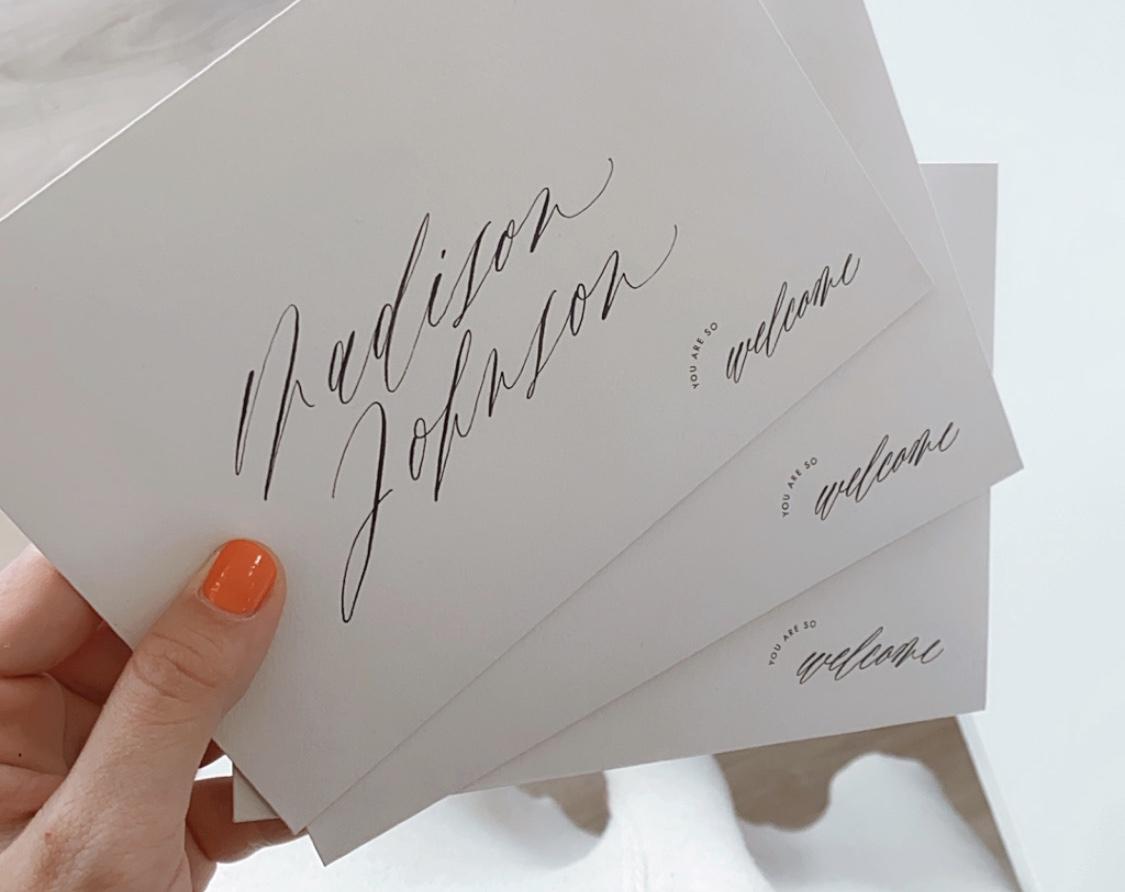 Kuvert Druck Kalligrafie